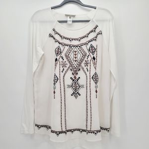 Sharon Young Embroidered Blouse